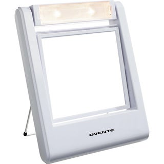 Ovente MLT22W Squared Lighted 1x/2x Dual-sided Vanity Mirror