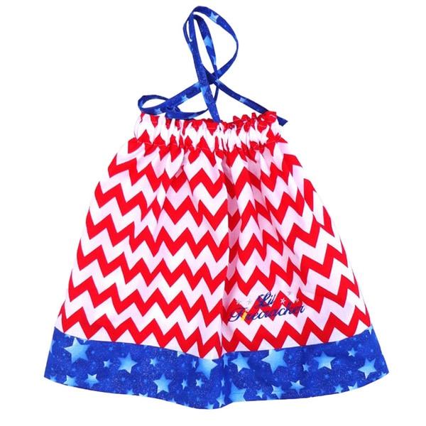 Girls Chevron Independence Day Sundress