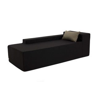 Black Weather-resistant Outdoor Chaise Lounger