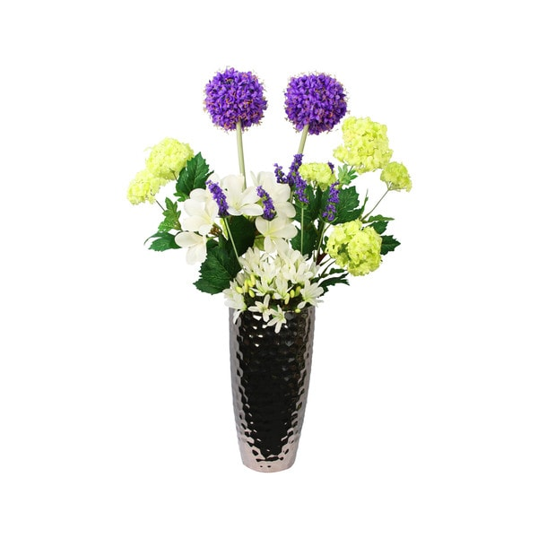 Loraine Multi-hue Titanium Vase Arrangement