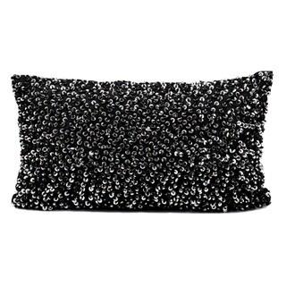 Michael Amini Black Sequined Accent Pillow