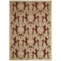 Nourison Hand-carved Graphic Illusions Red Acrylic Rug (5'3 x 7'5)