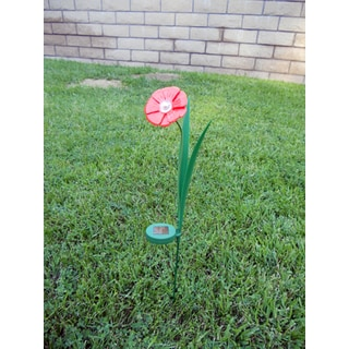 Tricod Ballerina Red Paddle Trumpet Flower Solar Light (Set of 2)