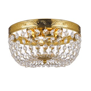 Crystal Flush Empire 3-light Chandelier