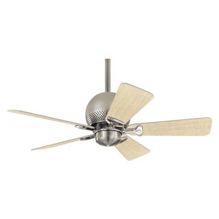 Hunter Prestige Orbit 36-inch Ceiling Fan with Brushed Nickel Finish and Five Maple/Cool Grey Blades