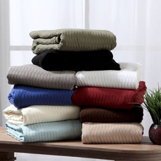 All-season Luxurious Diamond Weave Cotton Blanket