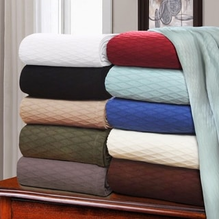 Simple Elegance All-season Luxurious Diamond Weave Cotton Blanket
