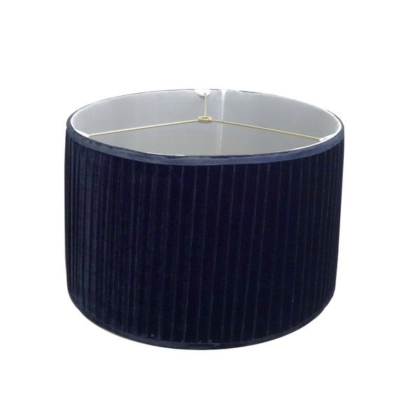 Pleated Navy Velvet Lamp Shade