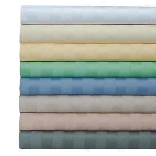 Egyptian Cotton 500 Thread Count Striped Sheet Set with Bonus Pillowcases