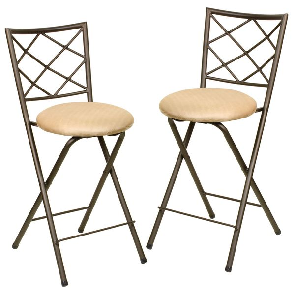 Folding Bar Stool Chair Set Set of 2 Overstock Shopping