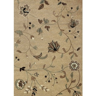 "Floral Ivory Area Rug (5'3"" x 7'3"")"