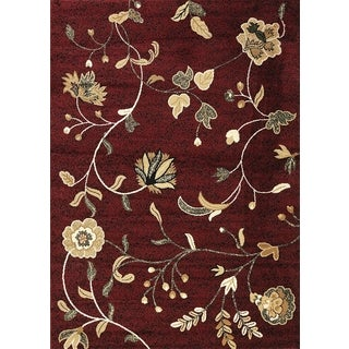 "Floral Red Area Rug (5'3"" x 7'3"")"