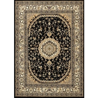 "Ardebil Black Area Rug (5'3"" x 7'3"")"