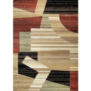 Contemporary Geometric Ivory Area Rug (7'10 X 10'2)