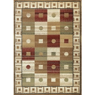 Contemporary Boxes Ivory Area Rug (7'10 x 10' 2)
