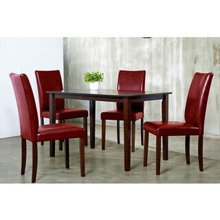 Shino Crimson 5-piece Dining Set