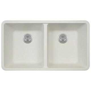 Polaris Sinks White Undermount Double Bowl Sink