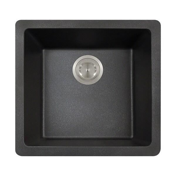 Polaris Sinks Black Single Bowl Kitchen Sink