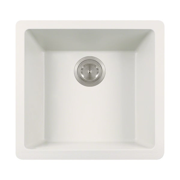 Polaris Sinks White Single Bowl Kitchen Sink