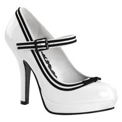 Women's Pin Up Secret 15 White Patent