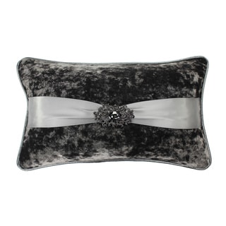 Jackson Morgan Crushed Velvet Rhinestone Brooch Throw Pillow