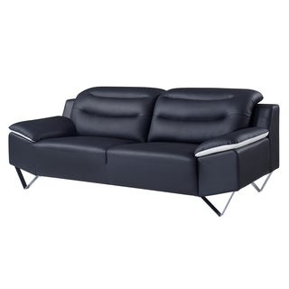 Leather Black/ White Modern Sofa
