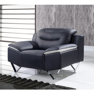 Leather Black/ White Modern Chair