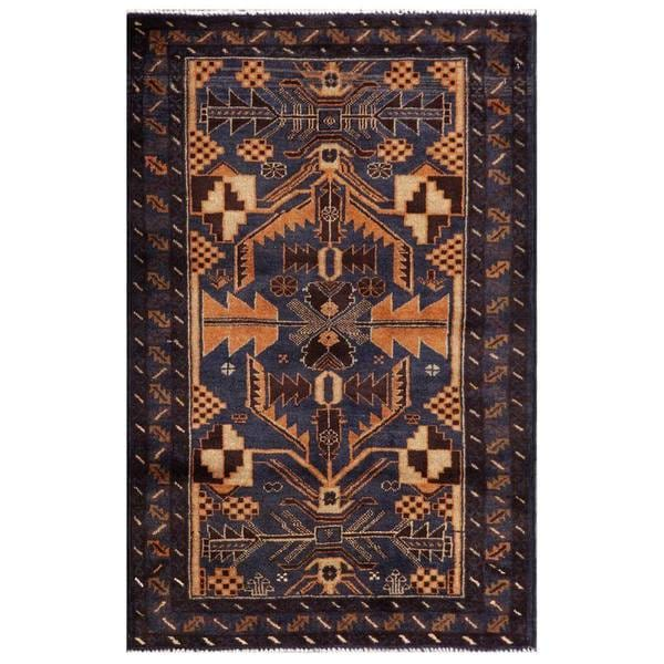 Herat Oriental Semi-antique Afghan Hand-knotted Tribal Balouchi Wool Rug (2'10 x 4'5) 12910184