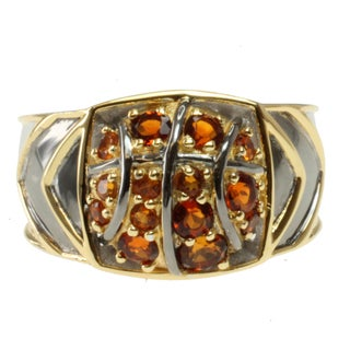 Michael Valitutti Men's Two-tone Madiera Citrine 'Basketball' Ring