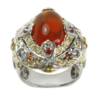 Michael Valitutti Two-tone Fire Opal, Fire Citrine and Orange Sapphire Ring