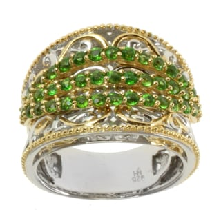 Michael Valitutti Two-tone Chrome Diopside Ring