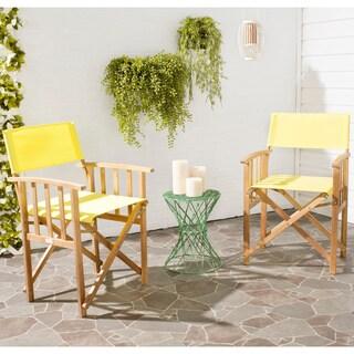 Safavieh Laguna Teak Finish Yellow Acacia Wood Director Chair (Set of 2)