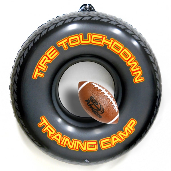 Inflatable Tire Touchdown Trainer with Vinyl Football