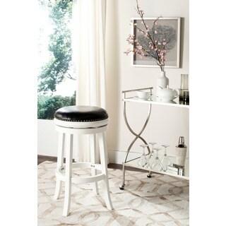 Safavieh Biagio White/ Black Seat 29-inch Bar Stool
