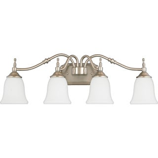 Tritan Brushed Nickel 4-light Vanity Fixture