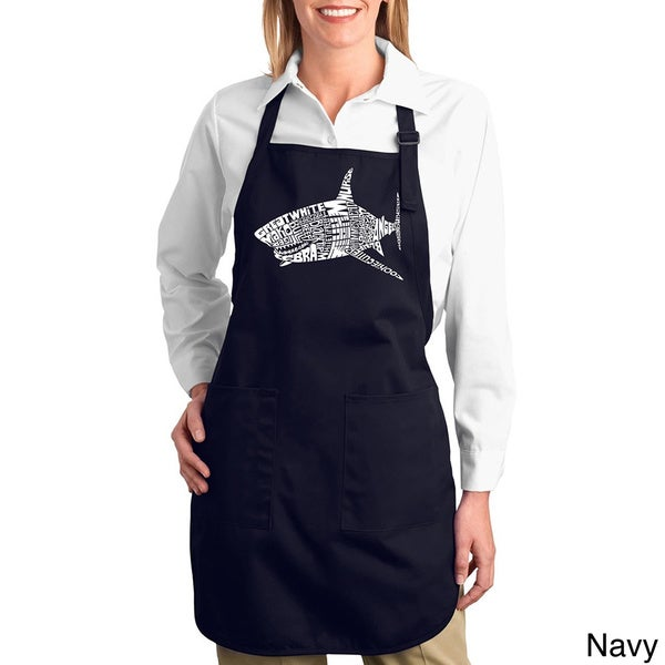 Shark Names Cotton Kitchen Apron