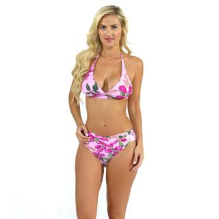 Sunset Swim Banded Halter with V-front Bottoms in Kimono
