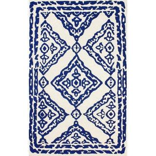 nuLOOM Hand-tufted Moroccan Wool Navy Rug (8' 6 x 11' 6 )
