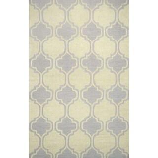 nuLOOM Hand-tufted Moroccan Trellis Wool Grey Rug (8' 6 x 11' 6 )