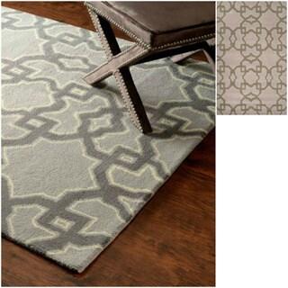 nuLOOM Hand-tufted Wool Grey Rug (7' 6 x 9' 6)