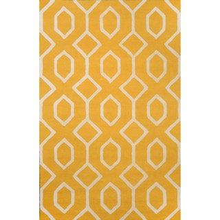 nuLOOM Hand-looped Wool Gold Rug (8' 6 x 11' 6)