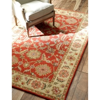 nuLOOM Hand-tufted Wool Red Rug (9' x 12')