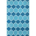nuLOOM Hand-tufted Lattice Geometric Blue Rug (8' 6 x 11' 6)