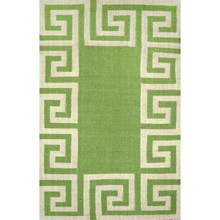nuLOOM Indoor/ Outdoor Flatwoven Greek Key Synthetics Mint Rug (7' 6 x 9' 6)