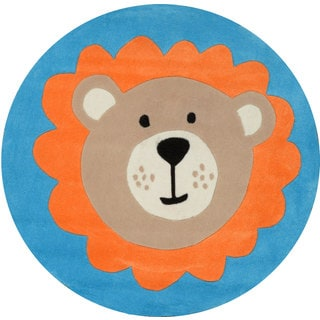 nuLOOM Hand-tufted Little Bear Blue Rug (4' Round)