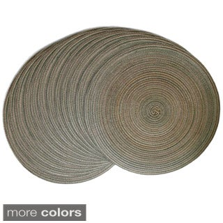 Stria 15-inch Round Multicolor Placemats (Set of 12)