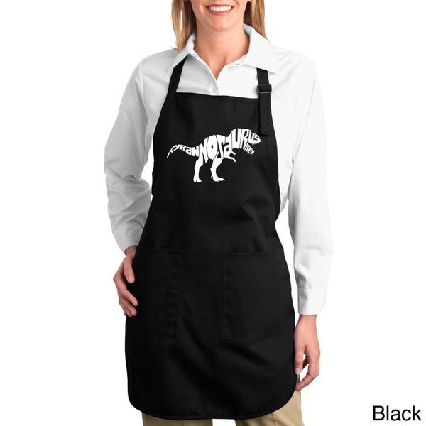 Tyrannosaurus Rex Text Cotton Kitchen Apron 12910697