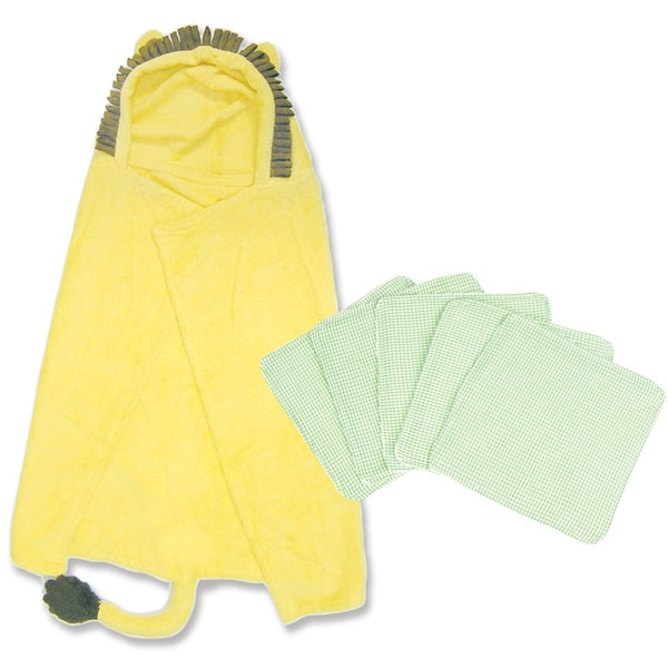 Trend Lab 6-piece Lion Hooded Towel and Wash Kit in Yellow