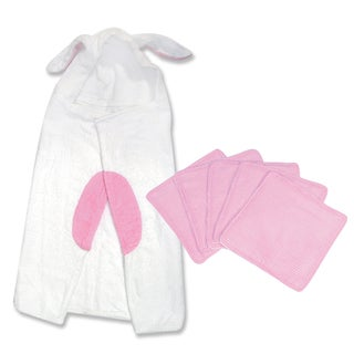 Trend Lab 6-piece Bunny Hooded Towel and Wash Kit in White