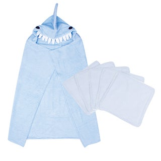 Trend Lab 6-piece Shark Hooded Towel and Wash Kit in Blue